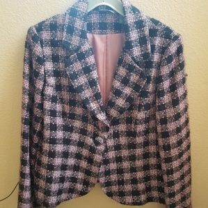 Hillard and Hanson boucle jacket